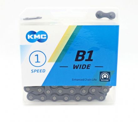 "KMC B1 1/2""x1/8"" Bushed Bike Chain Single Speed BMX, Track, Internal, Fixed Gear - 192919267440"